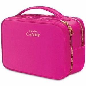PRADA Makeup Bag Pouch Candy Vanity Train Case NEW
